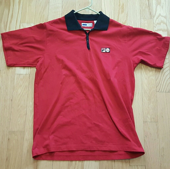 c9a4be853ac1 Fila Other - Fila Vintage Rare Polo Sewn Patch Red Large Cotton